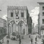 Dopo l'infelice notte passata ai Tre Mori, Liszt viene ospitato dal marchese Sampieri nel suo palazzo situato nell'isolato tra le attuali vie S. Stefano, Vicolo Sampieri, Castiglione, Il quarto lato del palazzo confinava con il palazzo della Mercanzia