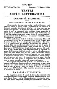 Pagine da Teatri arti e letteratura - 17 maggio 1838